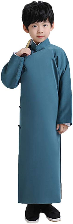 FXNN National Service  Costumes Dagu Republican Long Shirt Costume Apparel (color   bluee, Size   175cm)