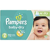 112-Count Pampers Cruisers Size 2 Baby Dry Diapers