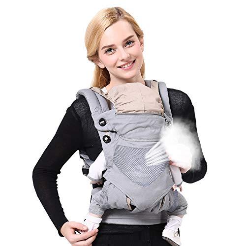 Adapt Babytrage vorne und hinten mit Kapuze und verstellbarem Hüftsitz – Ganzjahres-Babytrage aus Baumwolle in mehreren Positionen für Säuglinge bis zu 20 kg