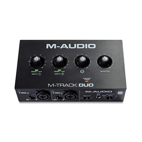 M-Audio M-Track Duo - Interfaz de audio USB para grabaciones,...