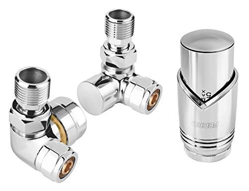 Ferro ZTO30CR - Válvula de radiador (cromada)