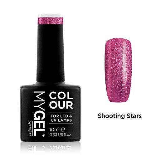 MyGel Nagellack von MYLEE (10ml) MG0034 - Shooting Stars UV / LED Nail Art Maniküre Pediküre für den professionellen Einsatz im Wohnzimmer und zu Hause - Langlebig und einfach anzuwenden