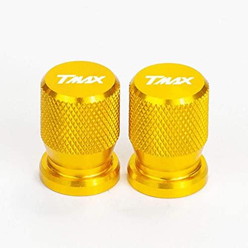 2 Piezas Tapas Válvulas Neumáticos Compatible con Yamaha TMAX 560 530 T MAX 250 T-MAX 150 530 DX SX 2019 2020, Tapas de Válvula Aleación Aluminio Tapones a Prueba Polvo Moto