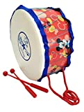 Type - Musical Drum with Sticks | Material - Plastic (High Quality Non Toxic) | Product Dimensions - Drum Diameter - 21 CM; Height - 10.5 CM, Stick - 18 CM | Items included in pack - 1 Drum, 2 Sticks | Age - 2 years and above Fine Motor Skill Develop...
