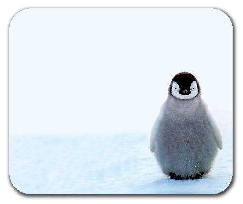 Netter Baby-Pinguin Glückliche Füße Warmes Fell Entzückender Schnee Mousepad Mouse Pad Mat