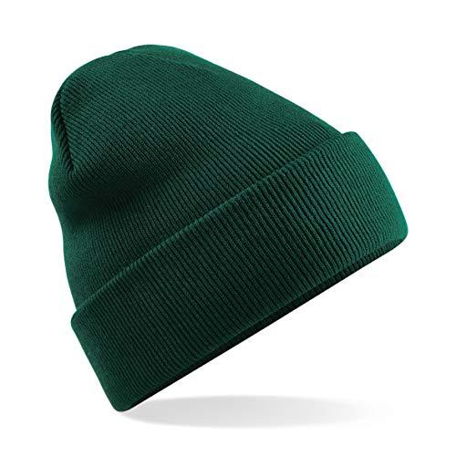 Beechfield B045.BOT Cuffed Bonnet Mixte, Noir, Taille Unique
