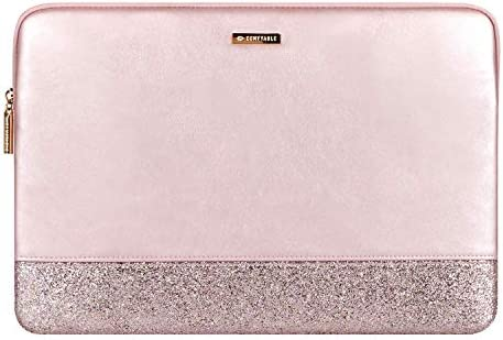 Comfyable Glitter Laptop Sleeve Compatible with 13 13 3 Inch MacBook Air and MacBook Pro Rose product image