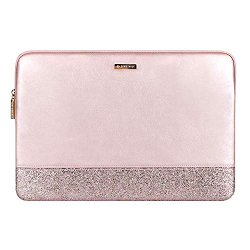 Comfyable Glitter Laptop Sleeve Compatible with 13-13.3 Inch MacBook Air and MacBook Pro, Rose Gold Pink Mac Cover Case