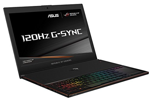 ASUS ROG Zephyrus GX501VS-GZ058T 15.6 Inch FHD 120 Hz Screen Gaming Laptop - (Black) (Intel Core i7-7700HQ Processor, 16 GB RAM, 512 GB PCI-e SSD, NVidia GTX1070 8 GB Max-Q, Windows 10)