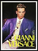 ポスター ブルース ウェーバー Versace Man 額装品 アルミ製ハイグレードフレーム(ブラック)