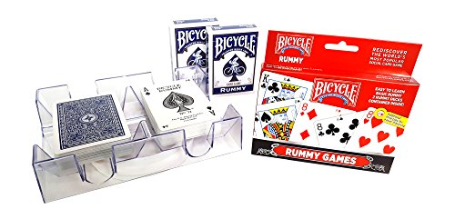 Rummy Game With 2 Deck Revolving Card Holder Tray