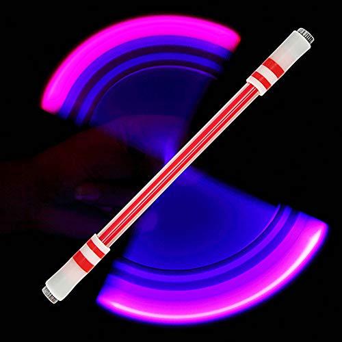 DishyKooker E15 Illuminated Spinning Pen Rolling Pen Bolígrafo especial sin recarga para niños E15 (B rojo enviar E11)