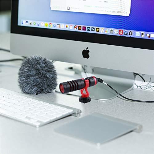 Kamera Mikrofon, YIRSUR kompakt Camera Microphone, Richtmikrofon Video Mikrofon für DSLR Kamera Camcorder, mit Windschutz Stoßdämpferhalterung für Camcorder Kamera Smartphone