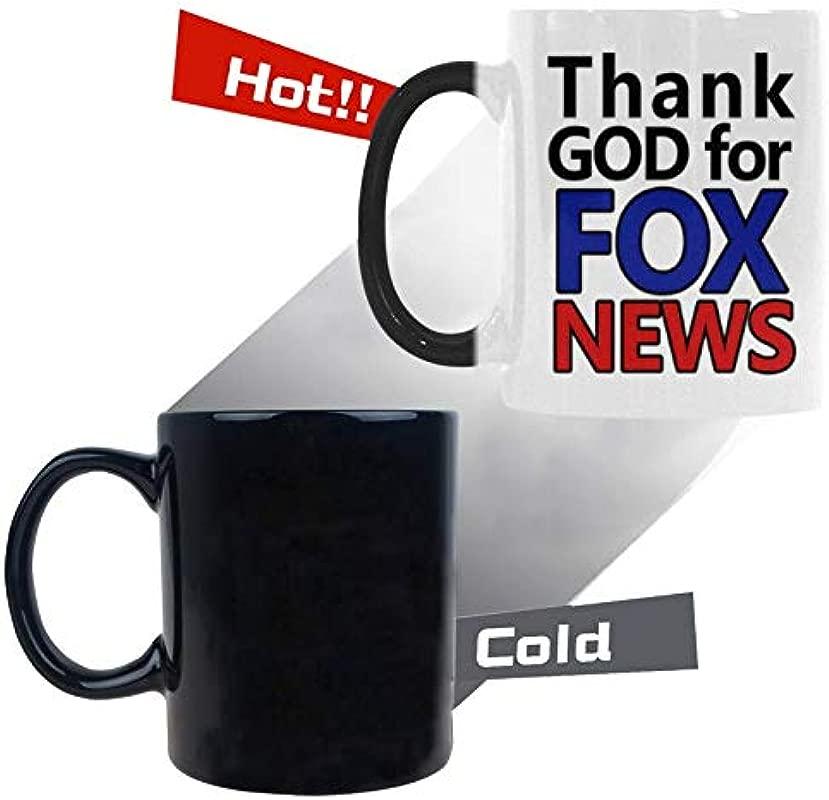 Funny Coffee Mug Thank God For Fox News Morphing Mugs Heat Reveal Color Ceramic Coffee Mug Funny Gifts For Birthday Gift 11 Oz Coffee Mug Tea Cup 11 Oz White