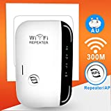 WiFi Extender Long Range Wireless Repeater Internet Signal Booster Adapter, Easy Setup N300