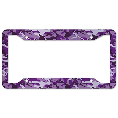 Camouflage License Plate Frame 4 Pieces Design License Plate Frame With 4Holes Fite For Bar white 16x31cm
