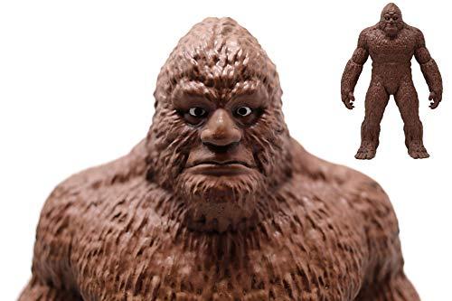 Price comparison product image ANISAU Epic Bigfoot Statue Yeti Sasquatch Figure Polyresin Sculpture Figurine 9 Inch (Dark Brown)