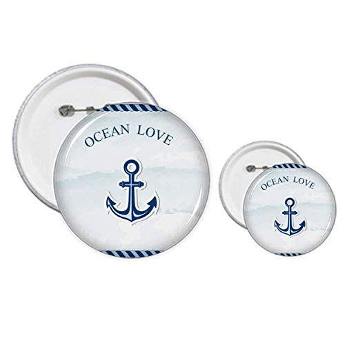 Anchor Ocean Love Sea Sailing Blue Pin - Kit de diseño de botones para manualidades