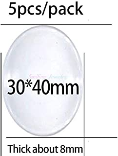 Pendant Trays - 1pack 8mm-38mm 25mm Clear Round Domed Magnifying Clear Glass Cabochon for Pendant Tray Setting DIY Jewelry Photo