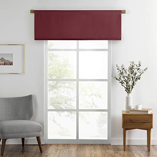 Elrene Home Fashions Straight Pleated Window Valance, polyester, Red, 50' x...