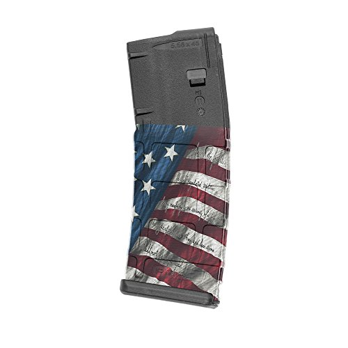 GunSkins AR-15 Mag Skins - 3 Pack - Premium Vinyl Mag Wraps - Easy to Install and Fits 30rd Magazines - 100% Waterproof Non-Reflective Matte Finish - Made in USA - Proveil Victory