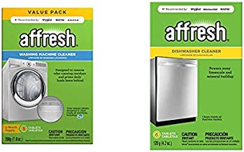 Affresh W10549846 Washing Machine Cleaner   Cleans Front Top Load Washers, Including HE, 5 Tablets & Dishwasher Cleaner   Formulated to Clean Inside All Machine Models, 6 Tablets, Original Version