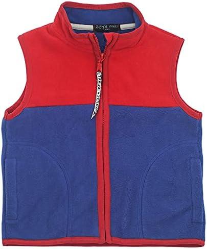 Toddler Polar Fleece Vest with Pockets Boys Girls Warm Sleeveless Jacket Kids Zipper Up Outerwear for Fall & Winter