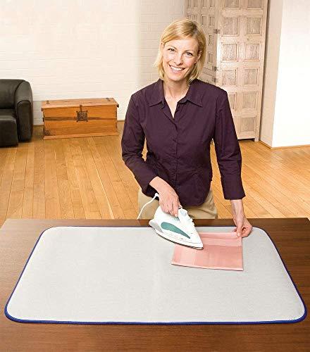 WENKO 1035073500 Thermo Bügeltischauflage, hitzereflektierend, Baumwolle, 65 x 100 cm, Silber matt