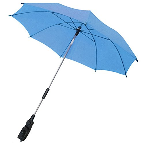 Gosear Kinderwagen Buggy Kinderwagen Regenschirm Anti-UV Strahlen Sonnenschirm Parasol Sonne Schatten Canopy Regenschirm Zubehör Blau