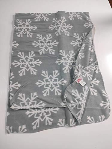 Sibiles - Manta Polar Sofá Navidad Copos de Nieve 130x170 cm KNL201112