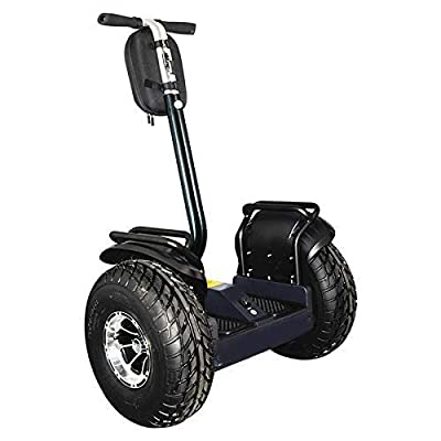 OUTSTORM 4000w/ 84v Offroad Electric Self Balance, City, Boardwalk Travel, Sightseeing, or Golf Course Use, Foldable Vehicle 34 Miles Range/13MPH Speed (4000w/ 84v /9.8Ah / 40 Miles Range/Black)