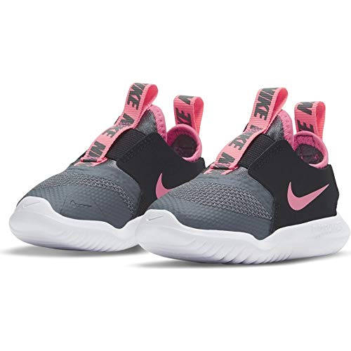 Nike Flex Runner (TD), Scarpe da Ginnastica Unisex-Bambini, Grigio (Smoke Grey/Sunset Pulse-Black-White), 21 EU