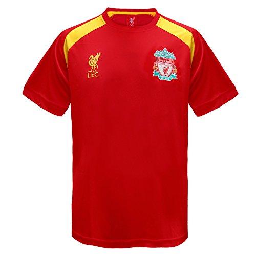 Liverpool FC Offizielles Herren-Fußball-T-Shirt, Polyester 7 Jahre rot