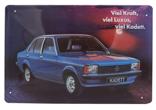 Cartel de chapa de Opel Kadet, de alta calidad, retro, para puerta, pared, 30 x 20 cm