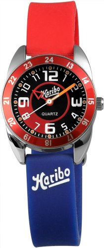 Haribo Unisex-Armbanduhr Analog Silikon HA3867-RD-BL3