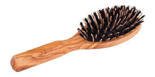 Redecker 721210 Haarbürste, oval, mit Wildschweinborsten und Holzstiften