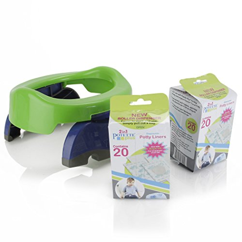 20 Count Kalencom Potette Plus Potty Seat Liner Roller Dispenser with Magic Disappearing Ink