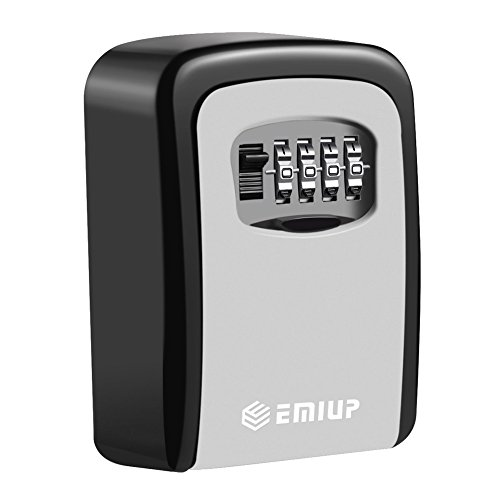 Schlüsseltresor, [Wandmontage] Schlüsselsafe Schlüsselbox mit 4-stelligem Zahlencode für Häuser, Büros, Fitnessstudios, Fabriken Schlüssel-Hohe Sicherheit