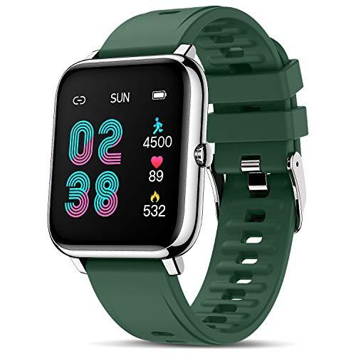Canmixs Smartwatch Orologio Fitness Uomo Donna Impermeabile Smart Watch Cardiofrequenzimetro da polso Contapassi Activity Tracker Sportivo Touch Digitale Bluetooth Smartwatch Acciaio per Android iOS