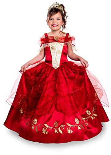 Cesar- Déguisement Princesse Ruby 8/10 Ans, Fille, F949, Rouge