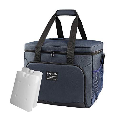 SPGOOD 20L/30L/40L Bolsa isotérmica para picnic, bolsa para el almuerzo, bolsa isotérmica pequeña con acumuladores de frío para el transporte de alimentos para adultos, niños, trabajo, picnic