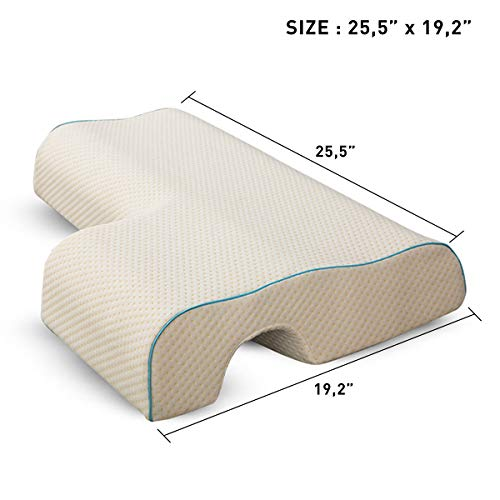 Poncho Memory Foam Pillow-Couple Pillow Breathable Arm Rest, Anti Hand Pressure Pillow for Couples Sleeping Cuddle Pillow(Cube Left)