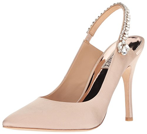 Badgley Mischka Women's Paxton Pump, Latte Satin, 8 M US