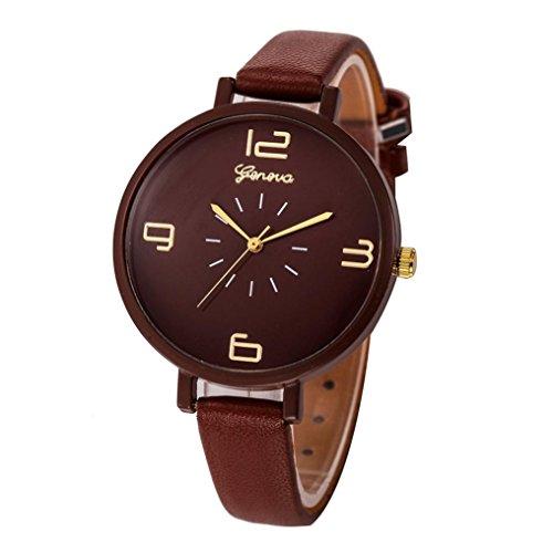Armbanduhr Damen Uhr Xinnantime Klassische Eleganz Analoge Quarz Damenuhr Frauen 10 Farbe (Standard, Braun)