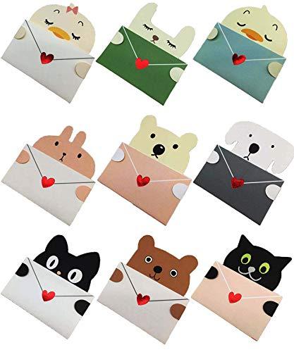誕生日カード 動物子ども誕生日カードメッセージカード?緑メッセージカード 動物小さいメッセージカードメッセージカード用封筒梱包?メッセージカードメッセージカード 無地メッセージカード セットお洒落?メッセージカードバースデーカード 子供向けクリスマス ギフ