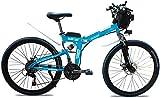 Bicicleta Eléctrica Bicicleta eléctrica plegable de 500W para adultos 26in 48v13Ah Batería de litio de litio Montaña Bicicleta eléctrica con controlador, pedal plegable dedicado E-bicicleta de bicicle