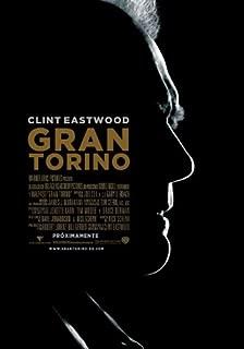 Gran Torino Movie Poster (27 x 40 Inches - 69cm x 102cm) (2008) Spanish -(Clint Eastwood)(Cory Hardrict)(John Carroll Lynch)(Geraldine Hughes)(Brian Haley)(Dreama Walker)