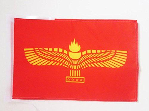 AZ FLAG Flagge ARAMÄISCHE SYRISCHE 45x30cm mit Kordel - SEMITISCHEN Fahne 30 x 45 cm - flaggen Top Qualität