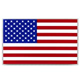 American Flag Decal Window Clings - Vinyl Car Decals - Non Adhesive Stickers (3' x 5') Ideal for Home, Vehicles, Trucks, RV, Jeep Windshields and Rear Windows 3 pack