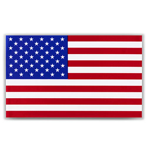 """American Flag Decal Window Clings - Vinyl Car Decals - Non Adhesive Stickers (3"""" x 5"""") Ideal for Home, Vehicles, Trucks, RV, Jeep Windshields and Rear Windows 3 pack"""